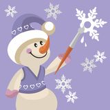 Snowman color 17 Royalty Free Stock Photography