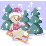 Snowman color 18 Stock Photos