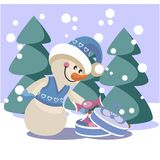 Snowman color 19 Royalty Free Stock Photo
