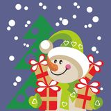 Snowman color 20 Stock Photography