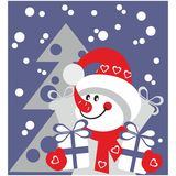Snowman color 21 Stock Image