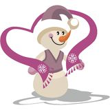 Snowman color 22 Stock Photo