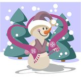 Snowman color 23 Stock Photography