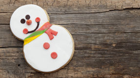 Snowman cookie Royalty Free Stock Images