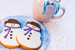 Snowman Cookies Stock Image