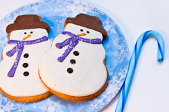 Snowman Cookies Stock Photos