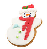 Snowman cookies isolated Stock Photo