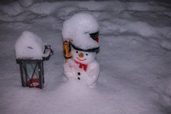 Snowman cool Royalty Free Stock Photos