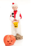 Snowman costume Stock Images