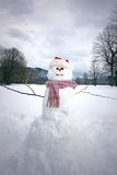 Snowman in countryside Stock Photos