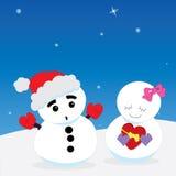 Snowman couple Royalty Free Stock Photo
