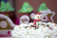 Snowman cream Royalty Free Stock Image