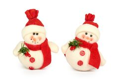 Snowman Cristmas decoration isolated on white background. New Year object.  Royalty Free Stock Photography