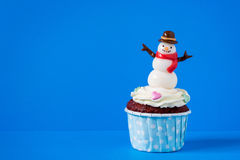 Snowman cupcakes Royalty Free Stock Images