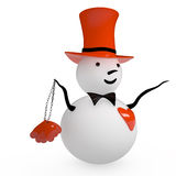 Snowman, 3D Royalty Free Stock Photography