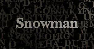 Snowman - 3D rendered metallic typeset headline illustration Royalty Free Stock Images