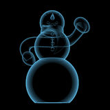 Snowman (3D xray blue transparent) Royalty Free Stock Photos