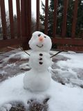 Snowman. On deck Royalty Free Stock Photo