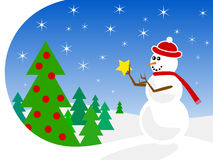 Snowman Decorating Stock Images