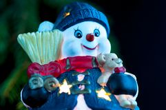 Snowman decoration . Snowman decoration for Christmas isolated Royalty Free Stock Photography