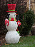 Snowman decoration. On a street Royalty Free Stock Photography