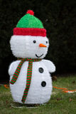 Snowman decoration. On a street Stock Images
