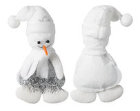 Snowman Decoration Toy, Handmade Snow Man Isolated Royalty Free Stock Photo