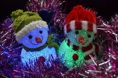 Snowman decorations Stock Images