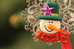 Snowman decorative object Stock Photography