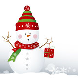Snowman design Stock Photography