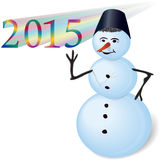 Snowman. Royalty Free Stock Image