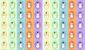 Snowman display Royalty Free Stock Photos