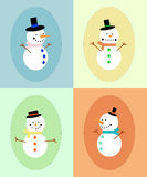 Snowman display Royalty Free Stock Images