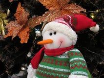Snowman Doll Christmas ornament. Snowman Santa Claus doll christmas ornament Stock Photos