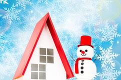 Snowman doll in Christmas Stock Images