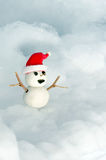 Snowman Doll wearing Red Hat Royalty Free Stock Photo