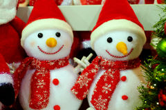 Snowman dolls. The Snowman dolls souvenir for christmas Royalty Free Stock Photography