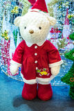 Snowman dolls. White Bear Christmas doll decoration Stock Photography