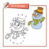 Snowman dot to dot Royalty Free Stock Image