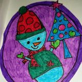 Snowman Drawing Stock Images