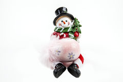 Snowman with an Egg Royalty Free Stock Images