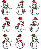 Snowman emotion vector Stock Photos