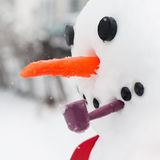 Snowman face Stock Image