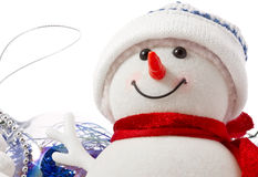 Snowman face close-up Royalty Free Stock Photo