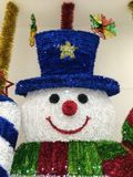 Snowman face. For decoration Christmas and new year Royalty Free Stock Photos