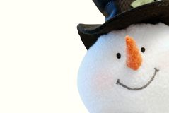 Snowman face isolated. On a white background Stock Image