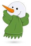 Snowman Face Vector Illustration Stock Photo