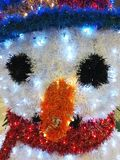 Snowman fake snow Stock Photos