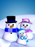 Snowman Family 1 Royalty Free Stock Photos