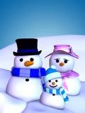Snowman Family 1 stock illustration